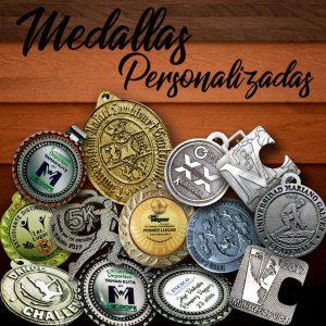 MEDALLAS METÁLICAS PERSONALIZADAS