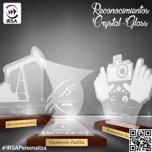 RECONOCIMIENTOS CRYSTAL-GLASS PERSONALIZADOS