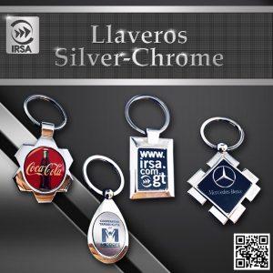 Llaveros Personalizados Silver-Chrome, Llaveros metálicos Guatemala
